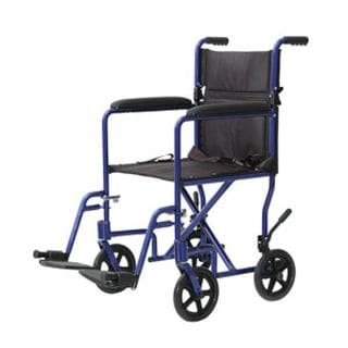 Invacare Blue Aluminum 17-inch Seat Lightweight Wheelchair