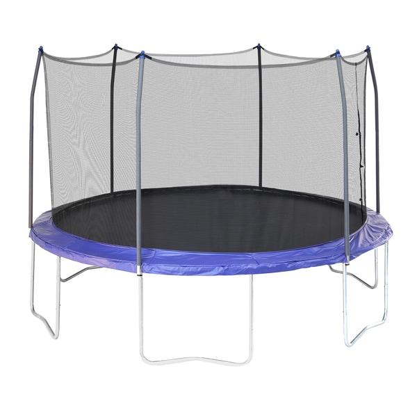 Skywalker Trampolines Blue 12' Round Trampoline with Enclosure