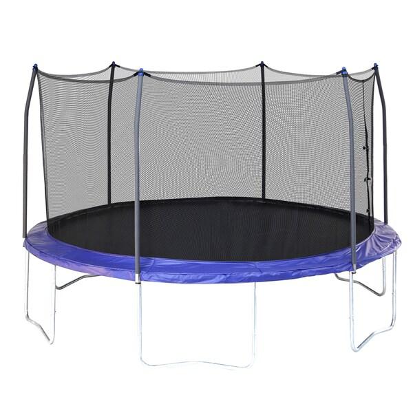 Skywalker Trampolines Blue 14' Round Trampoline With Enclosure