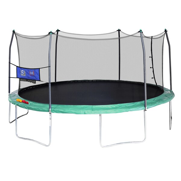 Skywalker Trampolines Green 16 Foot Oval Trampoline With: Skywalker Trampolines Green 16-foot Oval Trampoline With