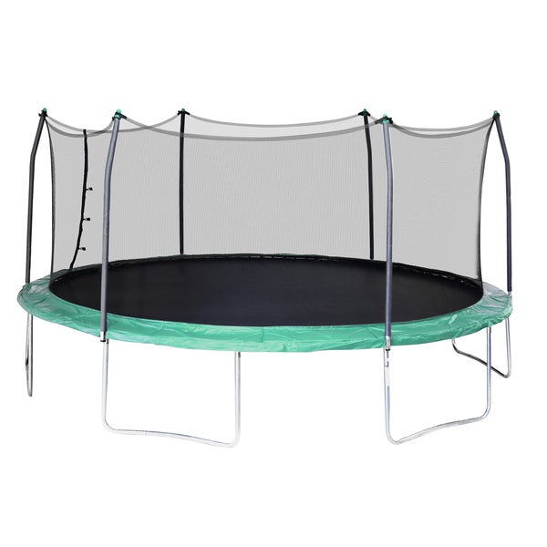 Shop Skywalker Trampolines Green 17-foot Oval Trampoline