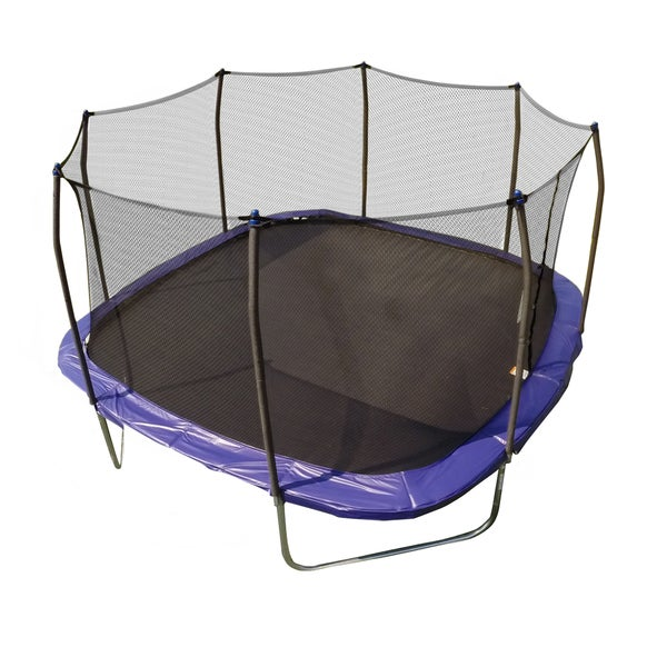 Skywalker Trampolines Blue 13-foot Square Trampoline with Enclosure