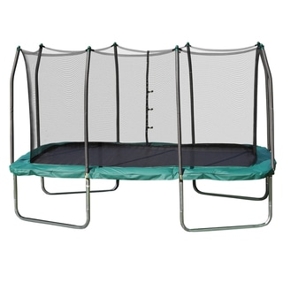 Skywalker Trampolines Green 14-foot Rectangle Trampoline with Enclosure