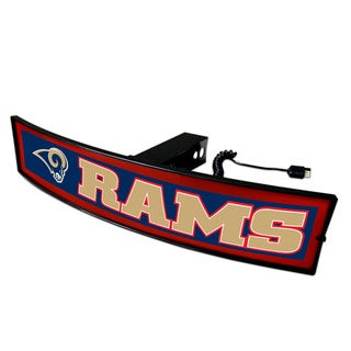 Fanmats NFL Los Angeles Rams Acrylic Light-up Hitch Cover