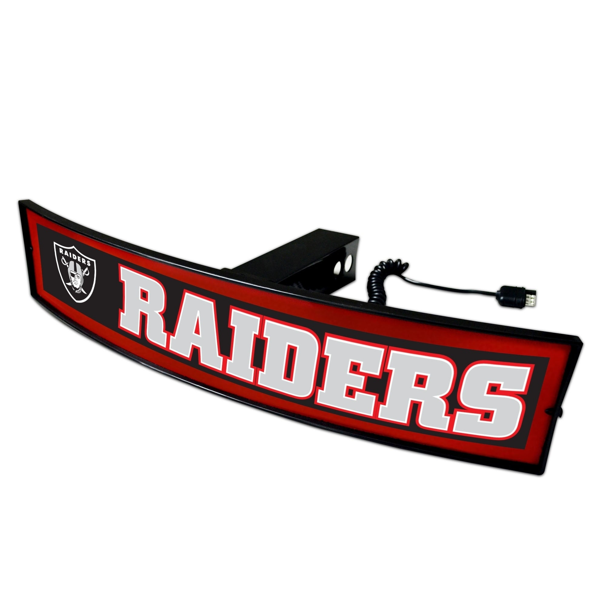 Fan Mats NFL Oakland Raiders Red Acrylic Light-up Hitch C...