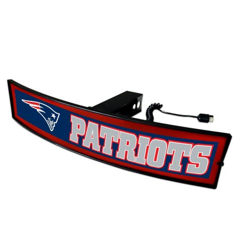 Fanmats NFL New England Patriots Acrylic Light-up Hitch Cover