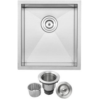 Ticor Stainless Steel Undermount 16-Inch Single Bowl Bar Sink