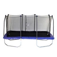 Skywalker Trampolines Blue Steel Frame 15-foot Rectangle Trampoline with Enclosure