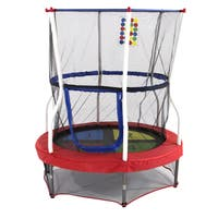 Skywalker Trampolines 1-2-3 Jump Mini Bouncer 48-inch Round Trampoline and Enclosure