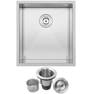 Ticor Stainless Steel Undermount 18 1/2-Inch Single Bowl Bar Sink