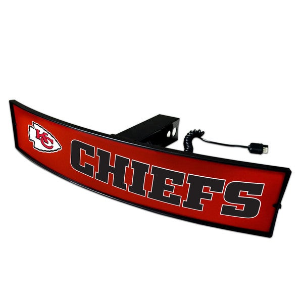 Fanmats NFL Kansas City Chiefs Red Acrylic Light-up Hitch Cover