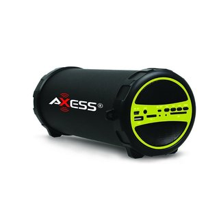 Axess Green Bluetooth Indoor/Outdoor Cylinder Speaker