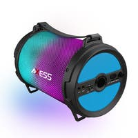 Axess Blue Bluetooth LED Lights Rechargeable Speaker with Wired Microphone