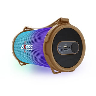 Axess SPBL1045GD Gold LED-lit Bluetooth Rechargeable Speaker