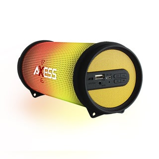 Axess SPBL1043YL Yellow LED-lit HiFi Bluetooth Rechargeable Speaker
