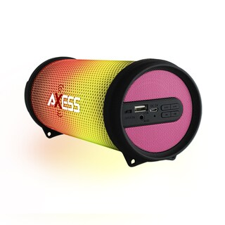 Axess Dancing LED Lights HiFi Bluetooth Pink Rechargeable Speaker
