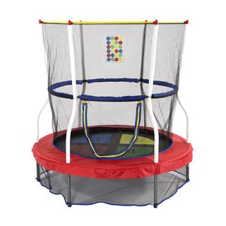 Skywalker Trampolines 1-2-3 Jump 55-inch Round Trampoline Mini Bouncer with Enclosure and Sound|https://ak1.ostkcdn.com/images/products/14626991/P21167938.jpg?impolicy=medium