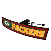 Fanmats NFL Green Bay Packers Red Acrylic Light-up Hitch Cover