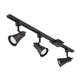 Lithonia Lighting Bronze LED 3-Light Lamp Shade Track Kit
