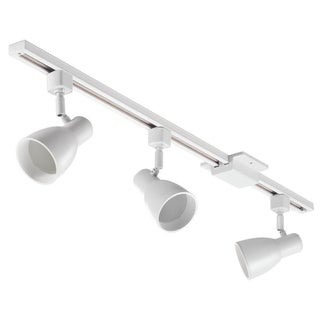 Lithonia Lighting White 3-Light Step Baffle Head Track Lighting Kit