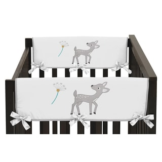 Sweet Jojo Designs Forest Deer Collection Fabric Side Crib Rail-guard Covers (Set of 2)