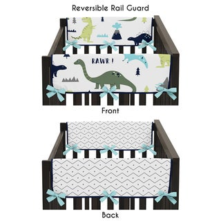 Sweet Jojo Designs Mod Dinosaur Collection Side Crib Rail Guard Covers (Set of 2)