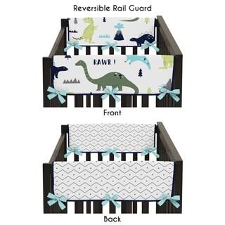 Sweet Jojo Designs Mod Dinosaur Collection Side Crib Rail Guard Covers (Set of 2)