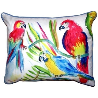 Three Parrots Extra Large Zippered Throw Pillow