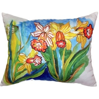 Daffodils Large Indoor/ Outdoor Throw Pillow