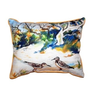 Tree and Beach Large Indoor/ Outdoor Throw Pillow
