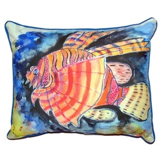 Betsy's Lion Fish Large Indoor/ Outdoor Throw Pillow