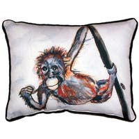 Betsy's Monkey Large Indoor/ Outdoor Throw Pillow