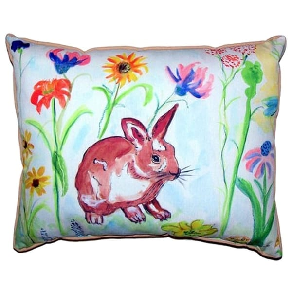 Whiskers Bunny Large Indoor Outdoor Throw Pillow Free Shipping