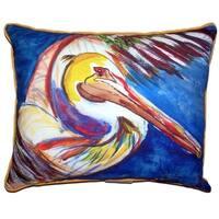 Pelican Wing Large Indoor/ Outdoor Throw Pillow