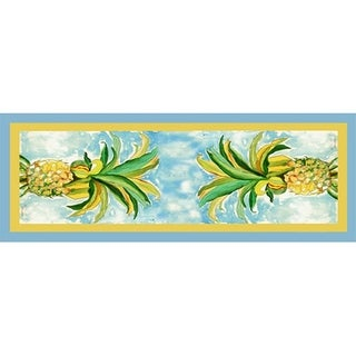 Betsy Drake Multicolor 13-inch x 54-inch Pineapple Table Runner