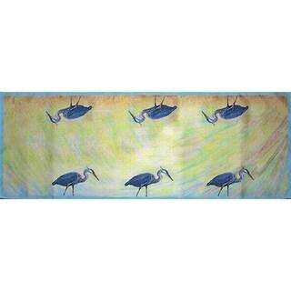 Betsy Drake Blue Heron Table Runner