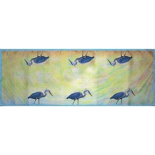 Betsy Drake Blue Heron 13-inch x 36-inch Table Runner