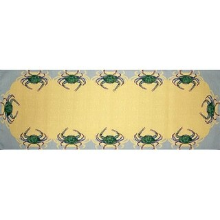 Betsy Drake Blue Crab 13-inch x 36-inch Table Runner