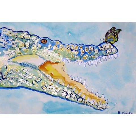 Betsy Drake Croc and Butterfly Place Mats (Pack of 4)