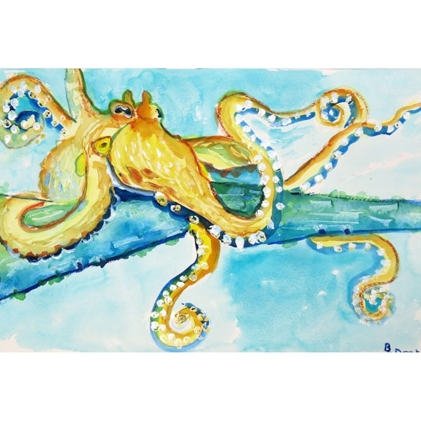 Betsy Drake Gold Octopus Place Mats (Set of 4)