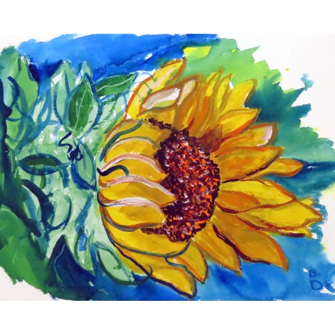 Betsy Drake 'Windy Sunflower' Place Mat (Pack of 4)