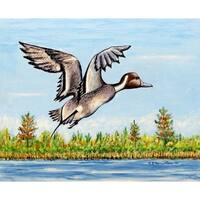Betsy Drake Pintail Duck Multicolored Placemat (Pack of 4)