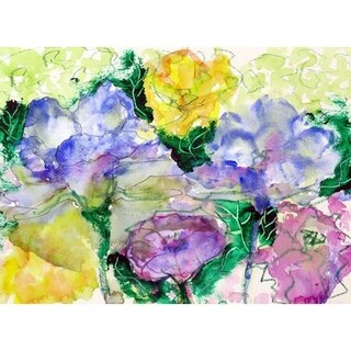 Betsy Drake Watercolor Garden Multicolored Placemat (Pack of 4)