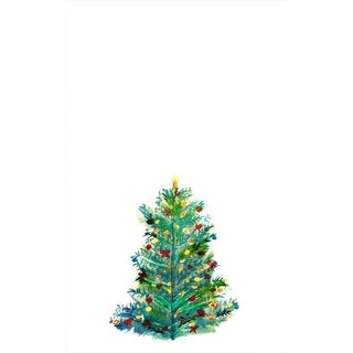 Betsy Drake Christmas Tree Multicolor Microfiber Kitchen Towels