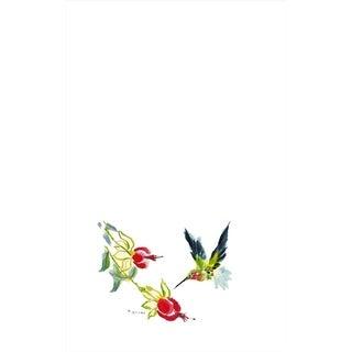 Betsy Drake Hummingbird Multicolor Microfiber Kitchen Towel