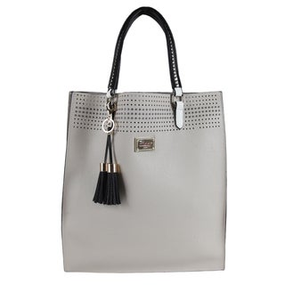 Nikky Starr Beige Faux Leather Tote Bag