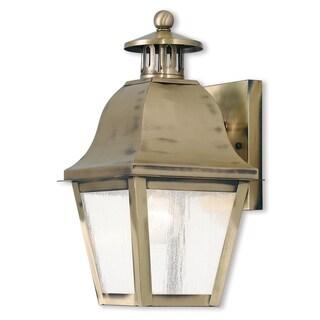 Livex Lighting Amwell Antique Brass Single-light Outdoor Lantern