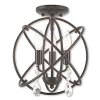 Livex Lighting Aria 3-light Bronze Finish Steel Chandelier