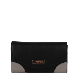 Nikky by Nicole Women's Lee Pastora Black Faux Leather Trifold Wallet