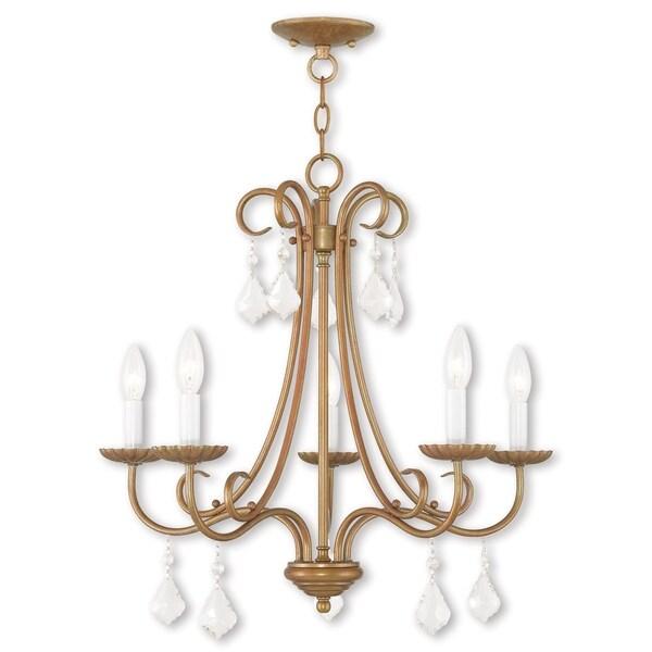 Livex Lighting Daphne Antique Gold-tone Steel 5-light Chandelier